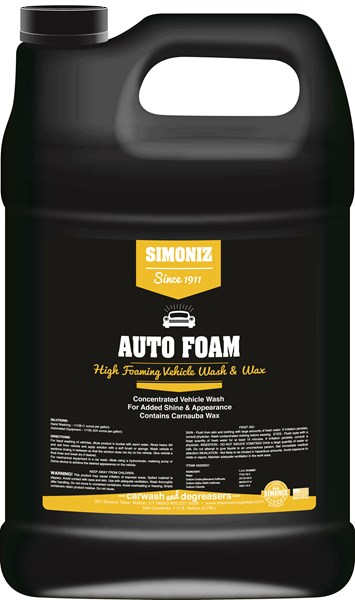 Simoniz Auto Foam Car Wash & Wax 1 Gallon