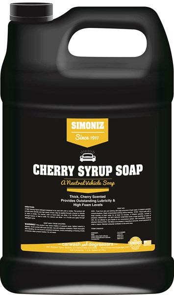 Simoniz Cherry Syrup Soap Car Wash 1 Gallon
