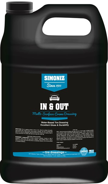 Simoniz In & Out Water Based Tire Shine & Dressing 1 Gallon