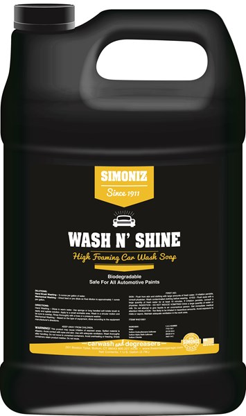 Simoniz Wash N' Shine Car Wash Soap 1 Gallon